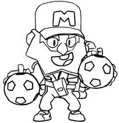 Coloring page Coach Mike