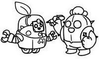 Dibujo para colorear Sprout y Spike