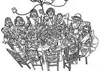 Coloring page Family