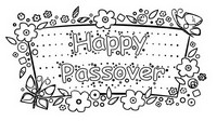 Coloring page Happy Passover