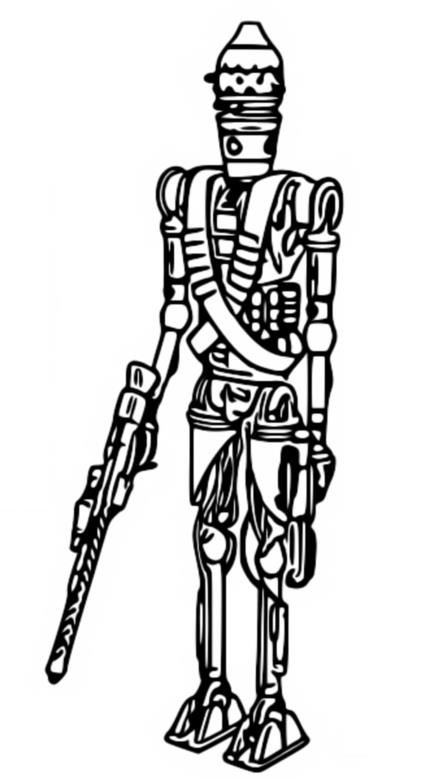 Coloring page IG-11 - The Mandalorian