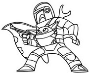 Coloring page The Mandalorian and Baby Yoda