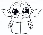 Kolorowanka Baby Yoda