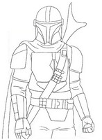 Målarbok The Mandalorian