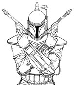 Coloring page Boba Fett