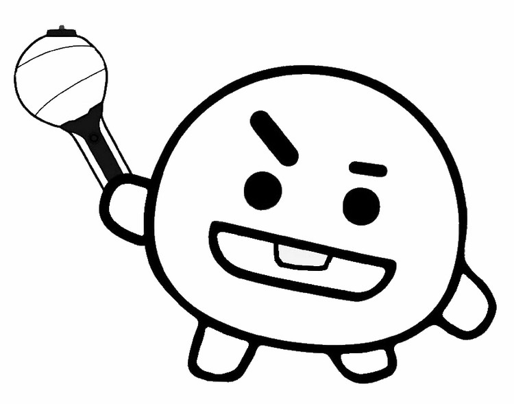 Coloring Page Bt21 Shooky 3