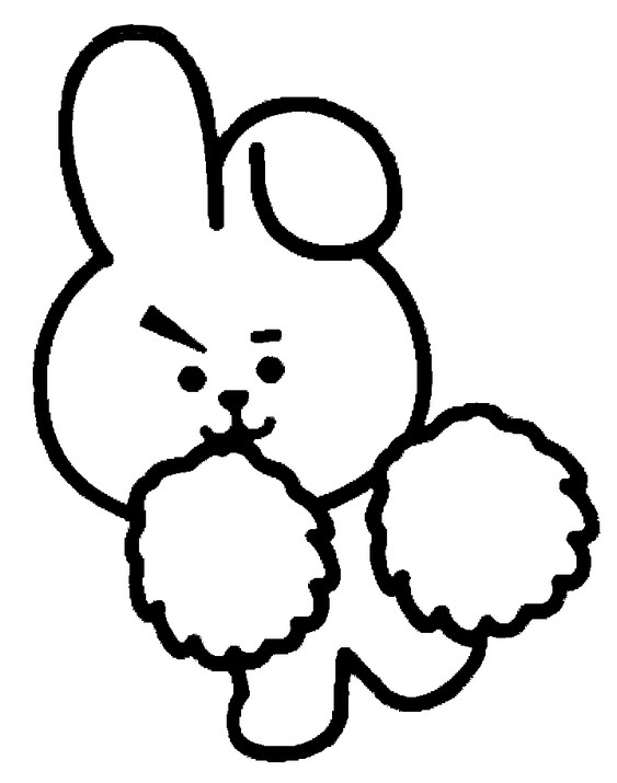 Coloring page Cooky - BT21