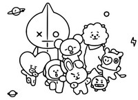 Målarbok Line Friends