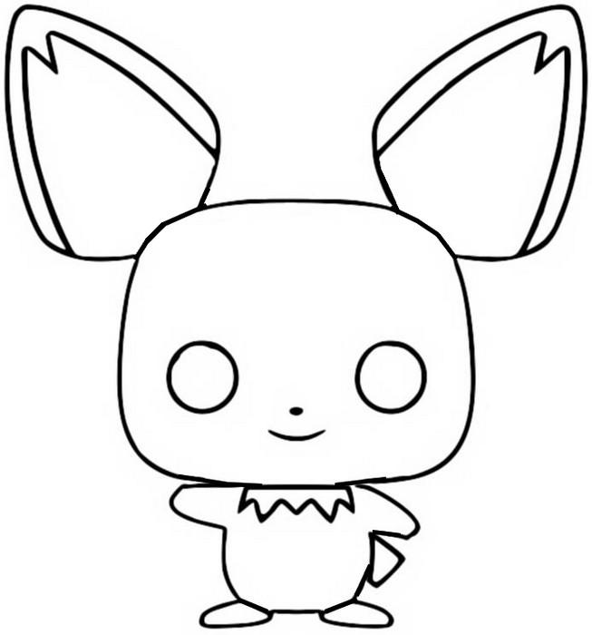 Coloring Page Funko Pop Pokémon Pichu 2