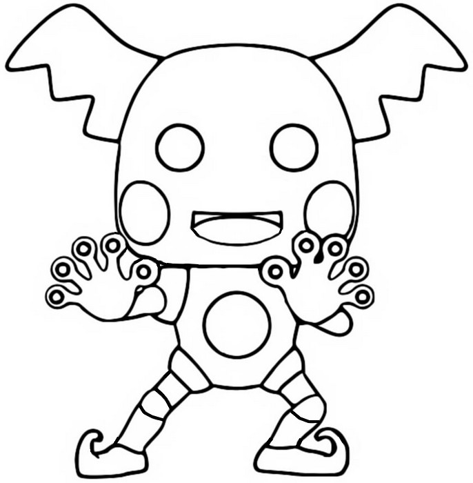 Coloring page Mr.Mime - Funko Pop Pokémon