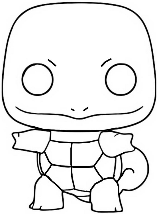 Coloring Page Funko Pop Pokemon Squirtle 7