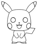 Coloring page Pikachu