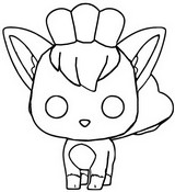 Coloring page Vulpix