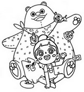 Coloring page Pink bear