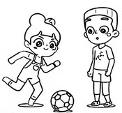 Coloring page Soccer with Timmy