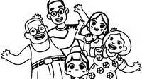 Coloring page With the family