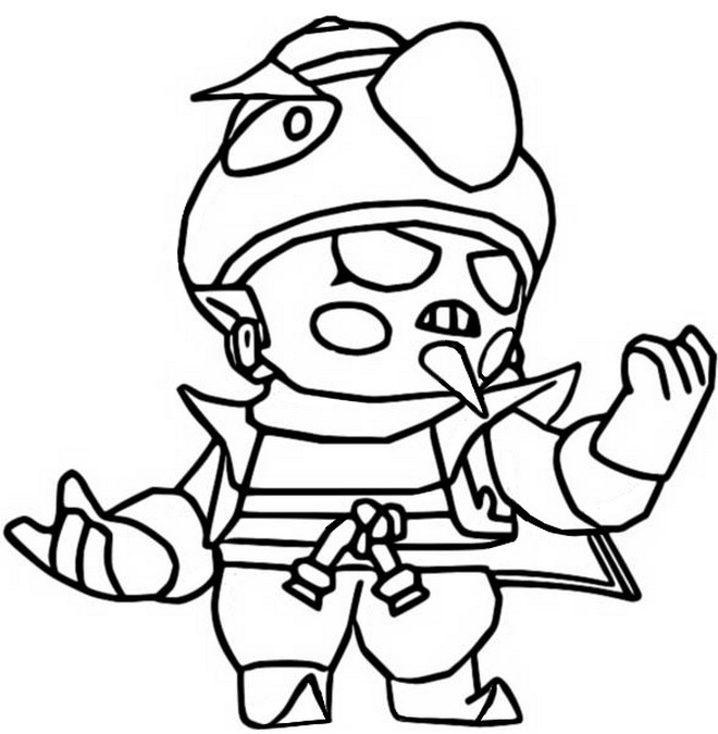 Coloring page Evil Gene - Brawl Stars May 2020 Update