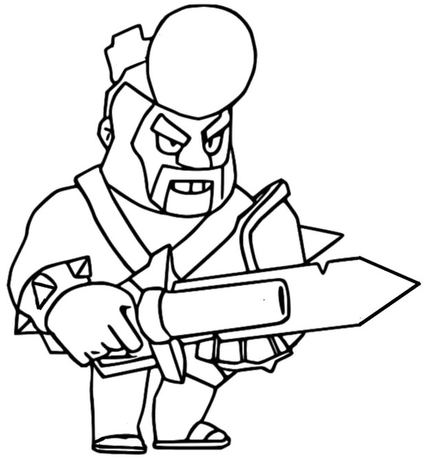 Coloring page Barbarian King Bull - Brawl Stars May 2020 Update