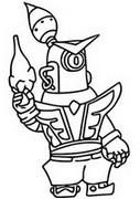 Desenho para colorir Guarda Rico