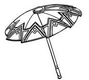 Disegno da colorare Ombrello