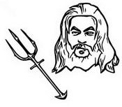 Dibujo para colorear Aquaman - Tridente