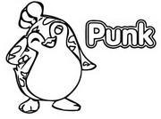 Kleurplaat Punk