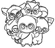Coloring page Yoohoo & Friends