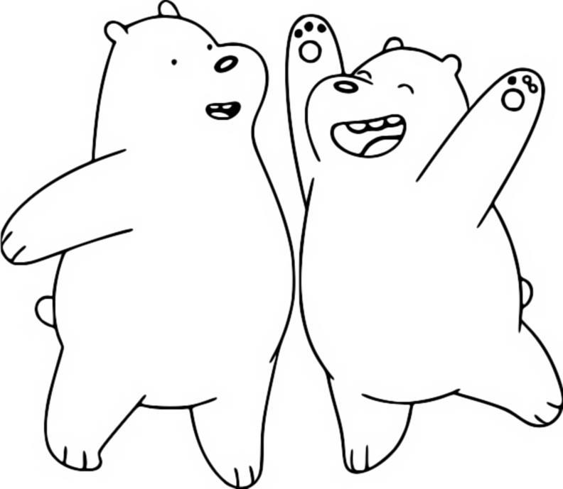 Coloring Page We Bare Bears Ice Bear Grizz 4