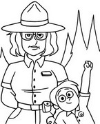 Coloring page Ranger Tabes