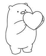 Coloring page Ice Bear