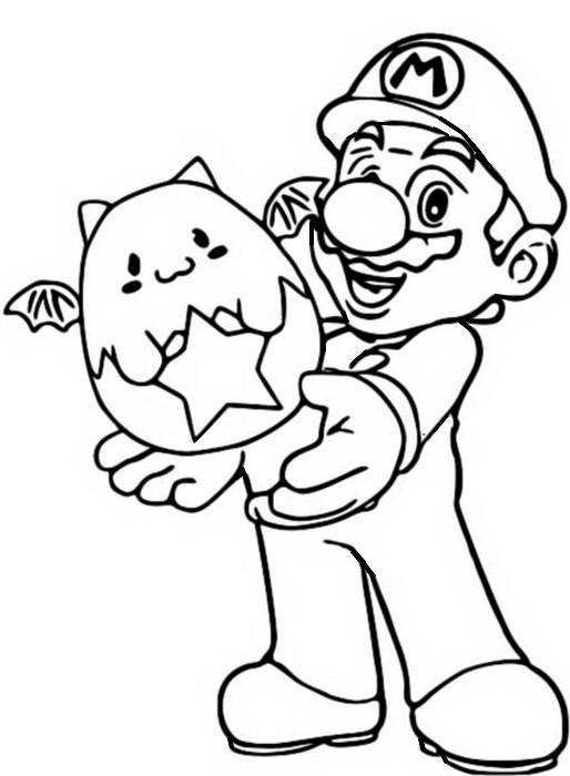 Disegno Da Colorare Puzzle And Dragons Super Mario Bros 10