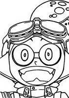 Coloring page Goggles