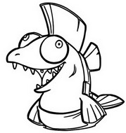Coloring page Salmonids
