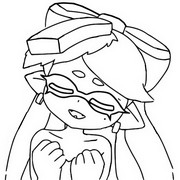 Coloring page Squid Sisters