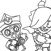 Coloring page Poco Starr and Trixie Colette