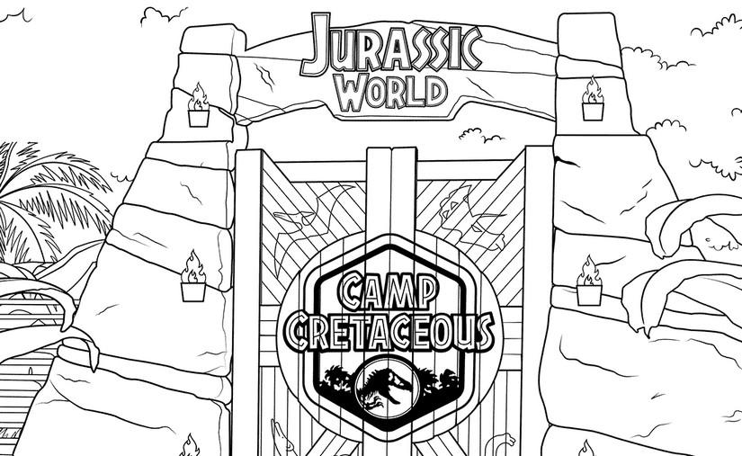 Malvorlagen Jurassic World Camp Cretaceous Jurassic World Camp Creataceous 5
