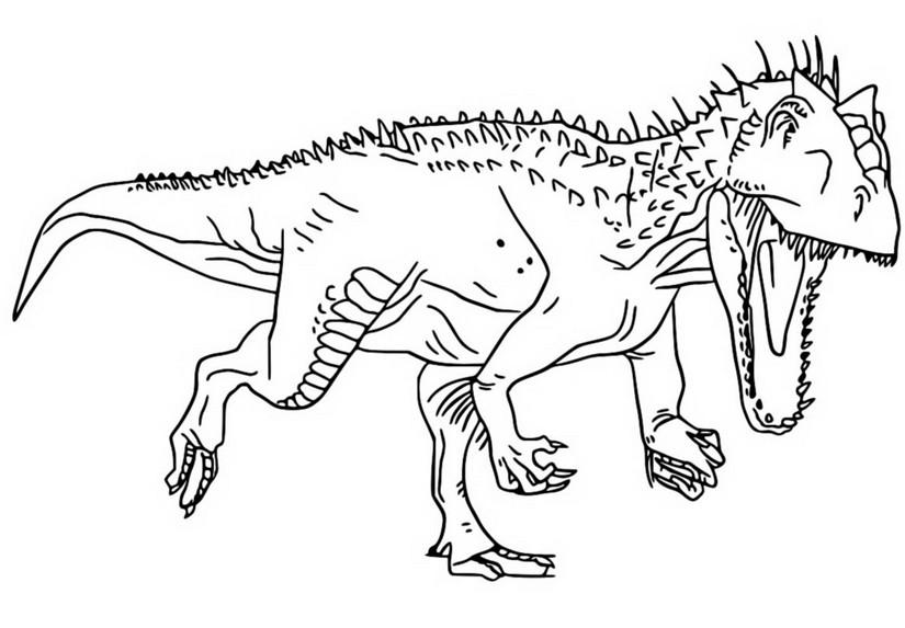 malvorlagen jurassic world - camp cretaceous : indominus rex 7