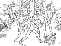 Kleurplaat Darius Bowman Darius en zijn vrienden
