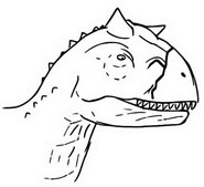 Coloring page Toro, Carnotaurus
