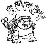 Coloring page Ankylosaurus Bumpy