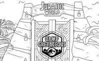 Malebøger Jurassic World - Camp Creataceous