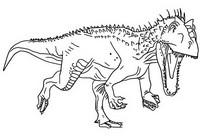 Kleurplaat Indominus Rex