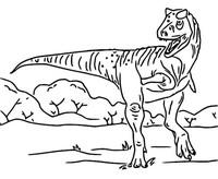 Kleurplaat Carnotaurus