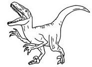Kleurplaat Veloraciptor, Blue