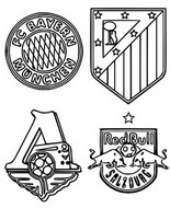 Coloring page Group A: Bayern Munich - Athlético Madrid - Red Bull Salzbourg - Lokomotiv Moscou