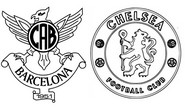 Coloring page Round of 16 - Atlético (ESP) - Chelsea (ENG)