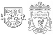 Coloring page Round of 16 - Leipzig (GER) - Liverpool (ENG)