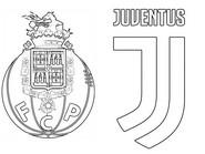Coloring page Round of 16 - Porto (POR) - Juventus (ITA)