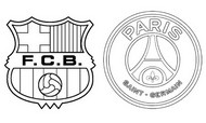 Dibujo para colorear Octavos de final - Barcelona (ESP) - Paris PSG (FRA)