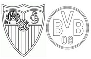 Coloring page Round of 16 - Sevilla (ESP) - Dortmund (GER)
